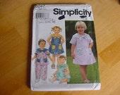 UNCUT Simplicity 8047 Pattern, Toddler Girl Dress, Top, Pants, Bloomers, Toddler Size 2-3-4