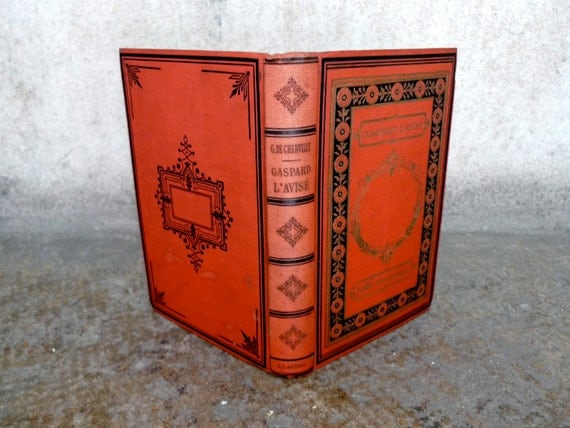 Custom Sketchbook made from an Antique French Book with Illustrations RESERVED