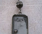 Custom Photo Double Sided VIntage Resin Tray Necklace
