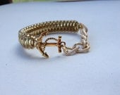 Anchor Bracelet- Textured or Smooth Gold Chain