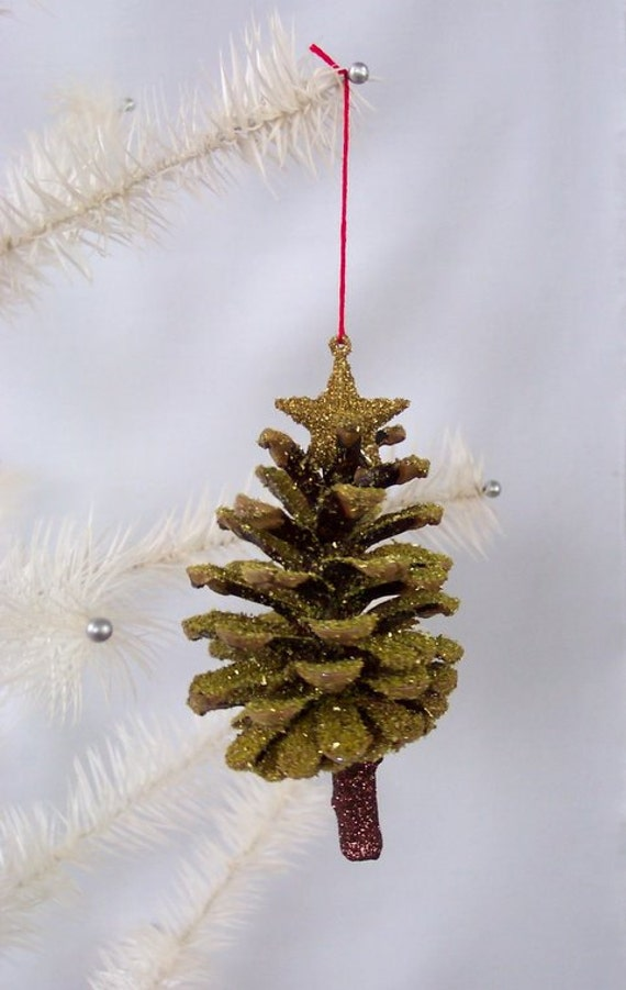 pine cone christmas tree ornament by westtwincreationsllc