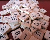 Reserved for Katie - Vintage Scrabble Tiles