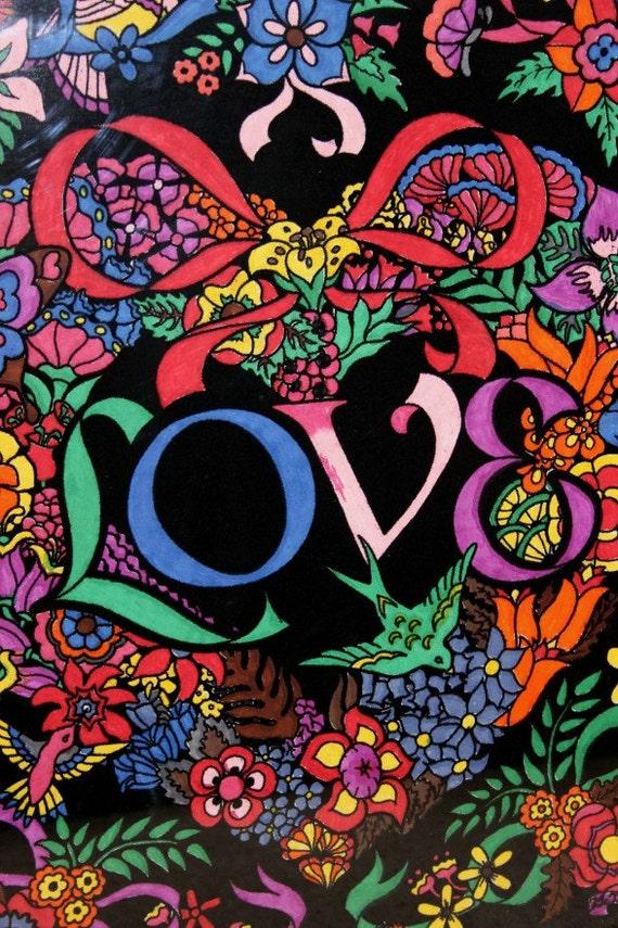 Vintage Framed Western Graphics Fuzzy Love Poster In Oak Frame