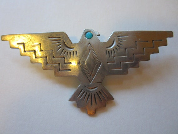 Vintage J.J. Thunderbird Brooch - Eagle Pin - 1988 Jonette Jewelry - Collectors Jewelry - Womens Fashion Accessory