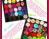 48 shades to choose from.  You Choose 20 Shabby Rose Flowers