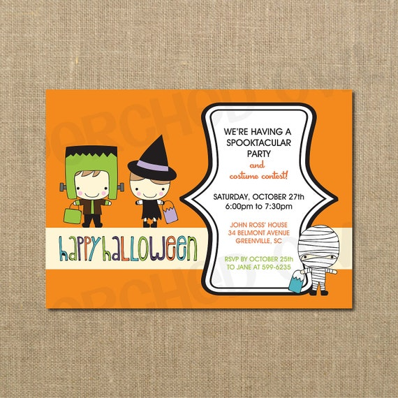 Halloween Party And Costume Contest Invitation
