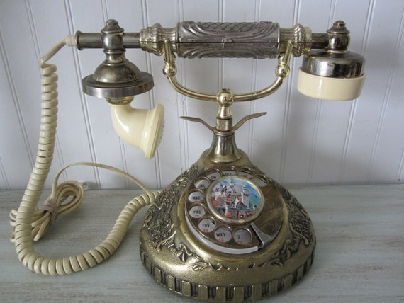 Vintage 1960's French Princess style rotary telephone