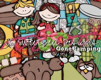 Gone Camping Digital Scrapbooking Kit
