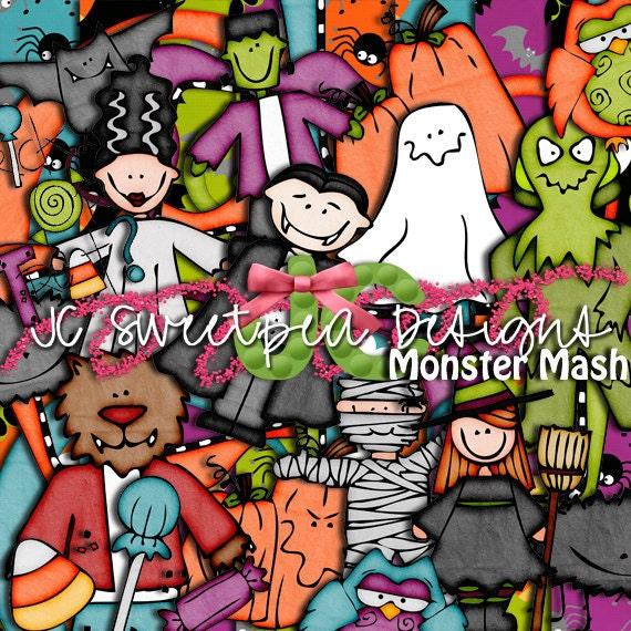 Monster Mash Halloween Digital Scrapbooking Kit