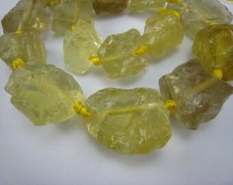 lemon quartz gemstone rough big nugget bead