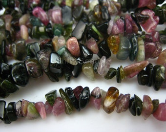 natural tourmaline stone chips 10-6mm 35 inch strand