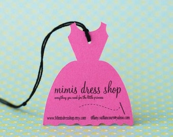 Little Dress Shaped Hang Tags - Personalized