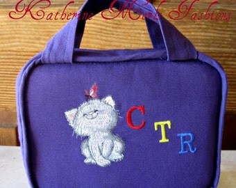 CTR Scripture Cover - Purple with embroidered kitten