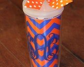 SALE - Game Day Tailgate Tumbler Cups Monogrammed Personalized - More Colors
