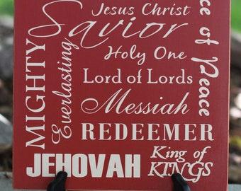 Words of the Savior-- Christmas Decorative Board 10x12