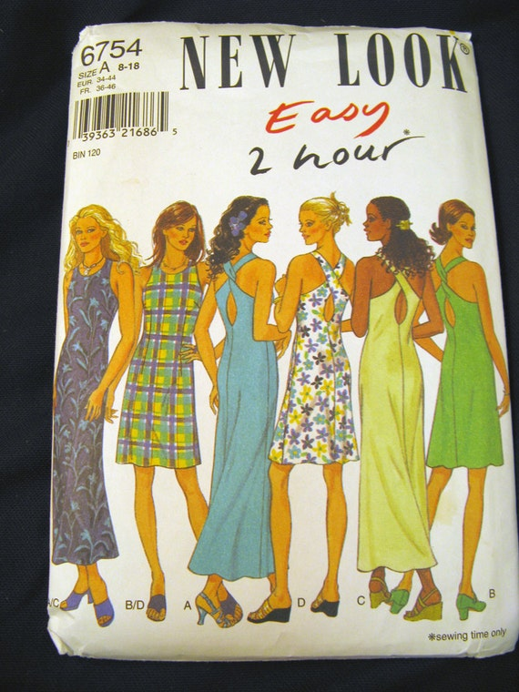 Simplicity New Look No. 6754 Misses Summer Dress Six Sizes in One Uncut Size 8-18