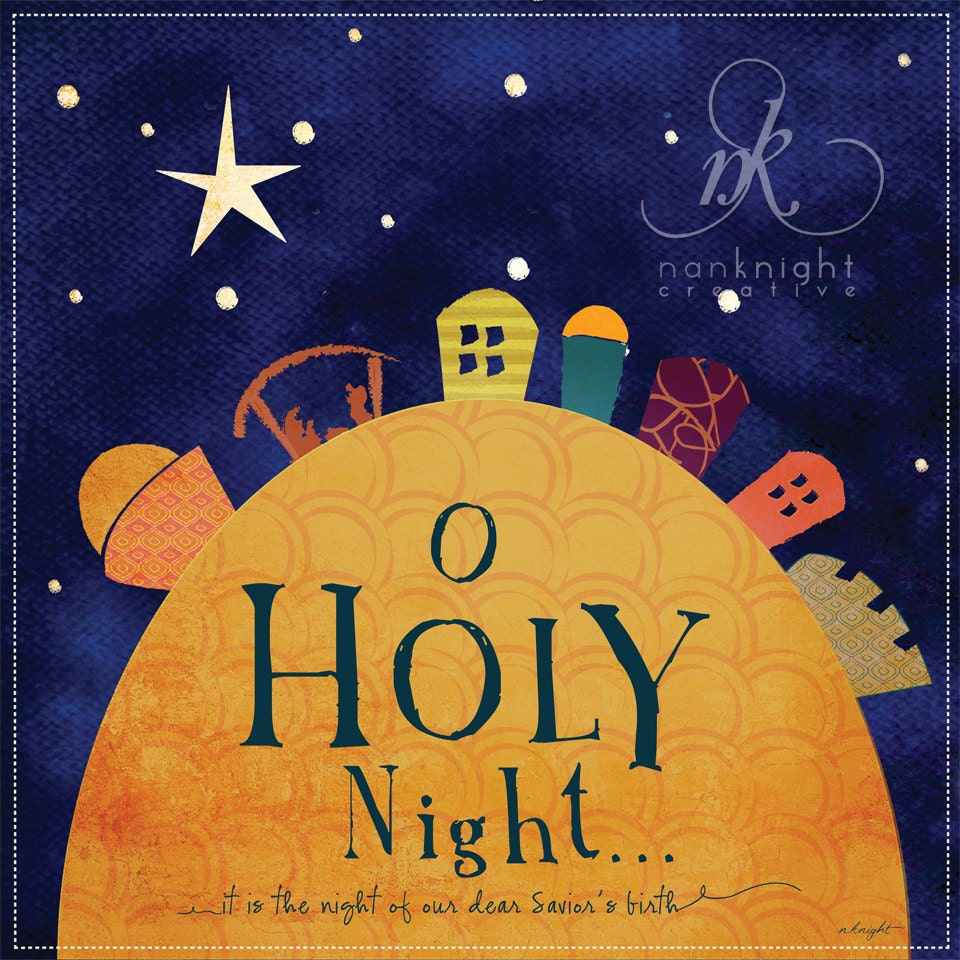 O holy night art print by nkcreative on etsy for O holy night decorations