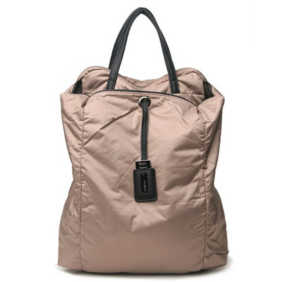 Leppy Fabric cushion Backpack (Beige)