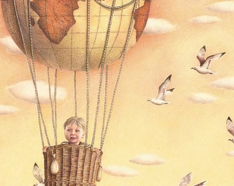 The World is Yours print from an original color pencil drawing by Irene Owens