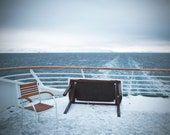 Large Wall Art-Norway Ship Photo-Snow Covered Ship Deck-Arctic Ocean-Empty Blue-Fine Art Photography-16x20