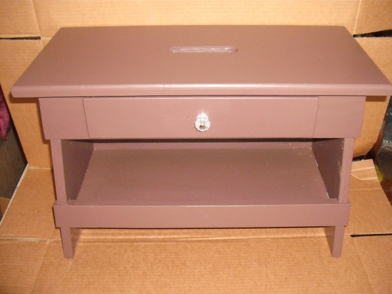 Items Similar To Solid Wood Country Step Stool Seat Drawer