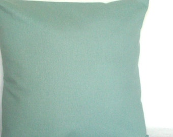Spa Blue Throw Pillow Cover, Optional Zipper - 18x18 or 20x20 inch Solid Decorative Cushion Cover  - Aqua Blue Solid, Light Turquoise