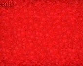 11/0 TOHO seed beads 10g Toho beads 11/0 seed beads Siam Ruby 11-5F Bright Red Frosted Matte beads Red seed beads last