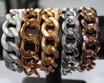 Ultra bold: 3 Bracelet Combo, Pick 3 out of 5 Chunky Chain Bracelets