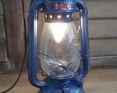 Navy Blue Electric Kerosene Lamp