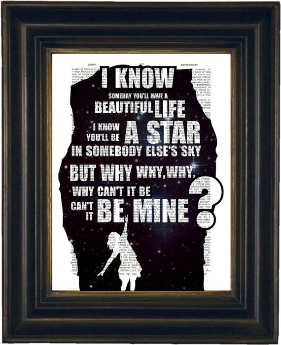 pearl jam black song lyric print on repurposed by forgottenpages. Black Bedroom Furniture Sets. Home Design Ideas