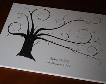 Wedding Thumbprint Trees - Alternative Guest Book  (SALE)