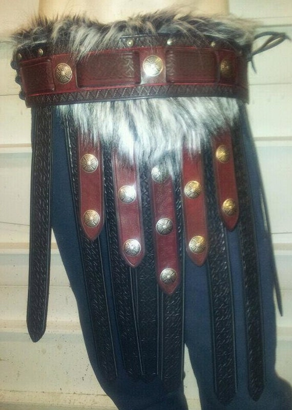 Leather Armor Barbarian War Skirt