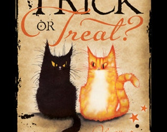 Trick or Treat halloween greetings card