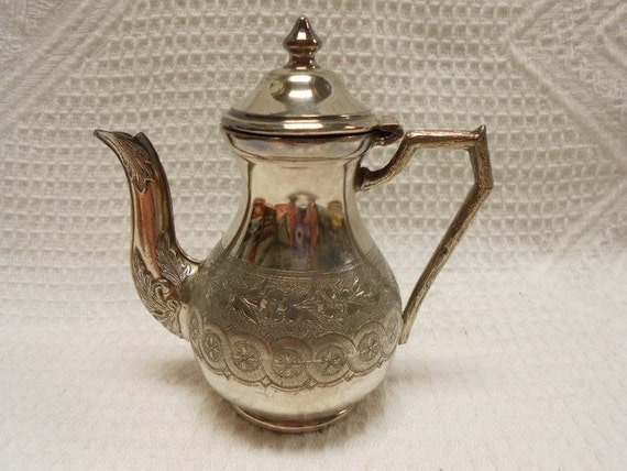French Vintage Silver Plated Miniature Doll House Teapot