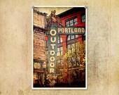 Portland Photo Outdoor Store--Fine Art Distressed Lomography 8x12