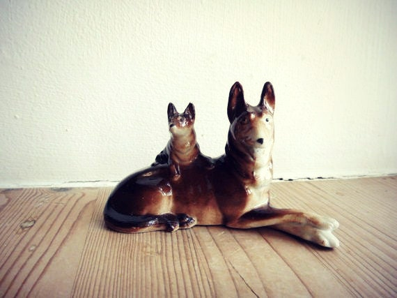 Danish Vintage figurine The Two Dogs
