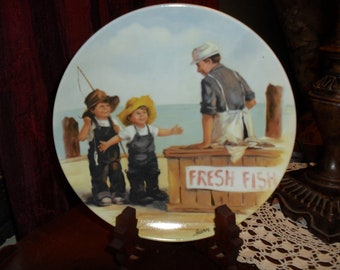 Knowles Fish Story Collectible Plate