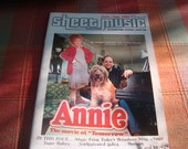 Annie piano sheet music booklet