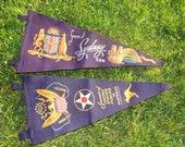 2 Vintage Felt Pennant Flag Banners from Australia