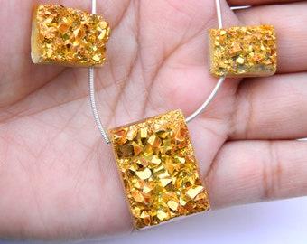 Chunky Gold Druzy Stone,Druzy Pendant Piece,focal bead druzy,Gold Plated Druzy Agate