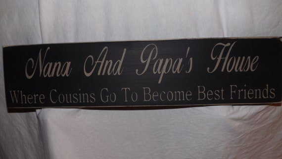 Create Your Own Wood Sign Grandparents Sign Nana By