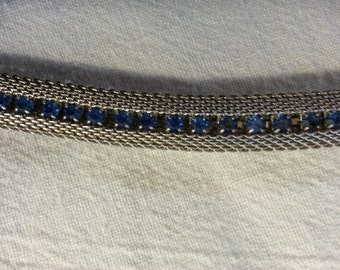 Beautiful Kramer Silver and Blue Necklace