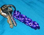 Purple Aluminum Double Byzankinged Keychain