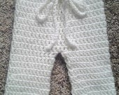 PATTERN:  Baby Trousers, Easy Crochet PDF, 4 SIZES, nb-12m, Instant DigiTaL DoWnLoaD, Baby Pants Longies Long Johns, Permission to Sell