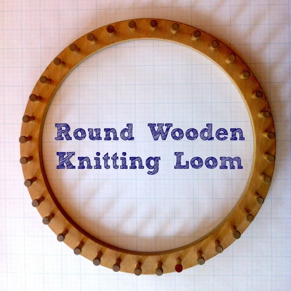 Knitting Looms Wood : Vintage round wooden knitting loom