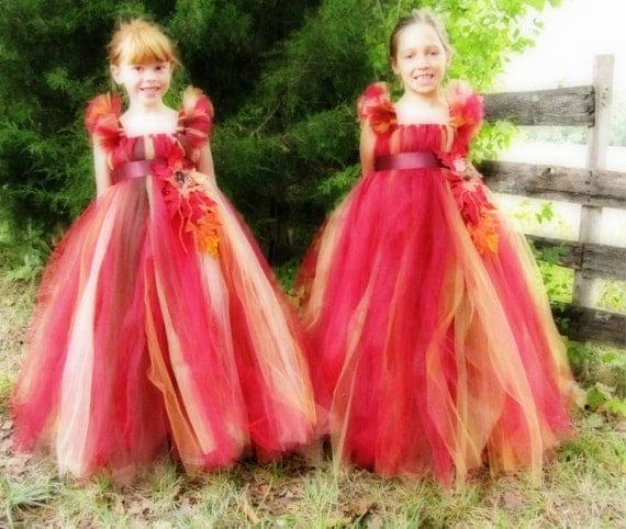 colored Tutu Flower girl dress