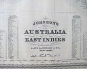 1882 Antique Map of Australia and the East Indies