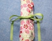 Jewelry Roll Organizer Pink & Green