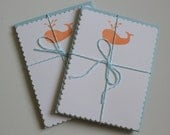 Whale Set of 6 Note Cards