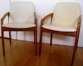 Mid Century Danish modern Chairs by Kai Kristiansen for Korup Stolefabrik of Denmark